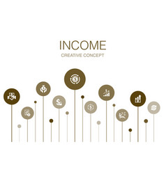 Income infographic 10 steps templatesave money vector