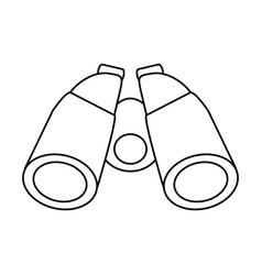 isolated binoculars icon image vector image