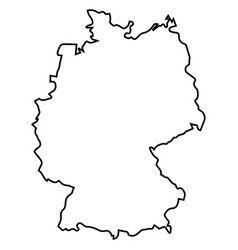 Isolated germany map vector