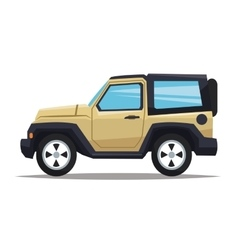 Jeep vehicle and transportation design vector