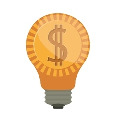 Ligth bulb with dollar symbol vector