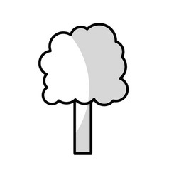Line ecology tree to environment care icon vector