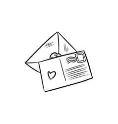 Love letters doodles vector