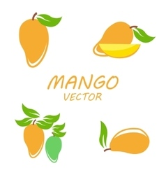 Mango icons set vector