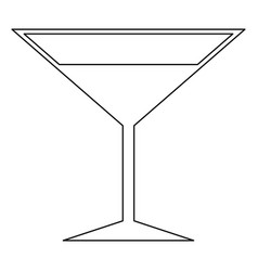 martini glass the black color icon vector image