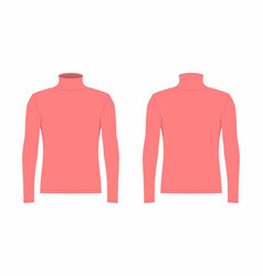 Mens red long sleeve t shirt vector