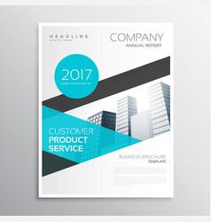 Modern blue business brochure template poster vector