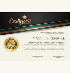 Modern certificate template with lines style vector
