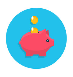 Money box flat icon vector