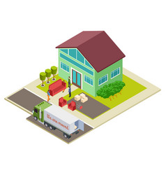 moving to a new home furniture delivery vector image