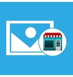 Online market buying image graphic vector
