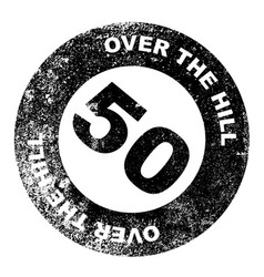 Over the hill 50 stamp vector
