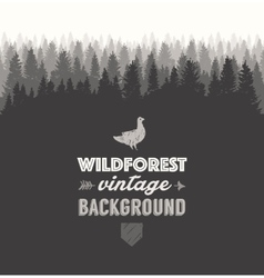 Pine forest template drawn vector
