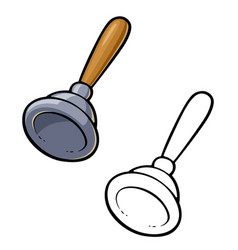 Plunger for clean toilet bowl vector