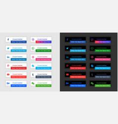 Popular social media banners in light and dark vector