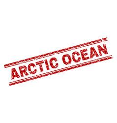 scratched textured arctic ocean stamp seal vector image