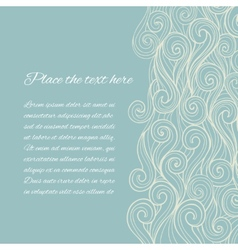 Sea Wave background with copyspace vector image