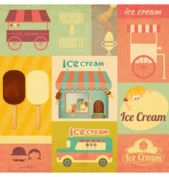 Set of Ice Cream Design Elements vector image