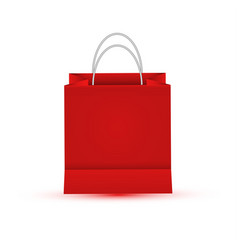 shopping paper red bag empty vector image