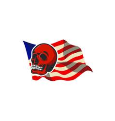 skull monocrome head charactre vector image