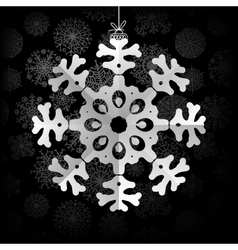 Snowflakes background with space for text EPS8 vector image
