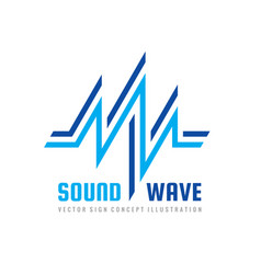 sound wave - logo template concept vector image