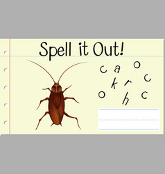 Spell it out cockroach vector