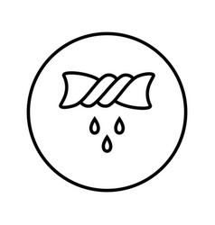 spin linen icon editable thin line vector image