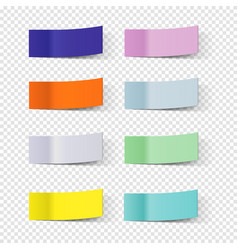 sticky note papers paper bookmarks set vector image