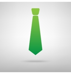 Tie icon with shadow vector