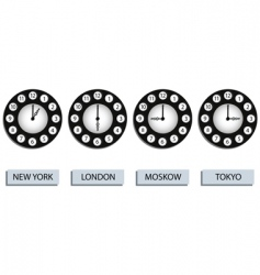 time zone clocks vector image