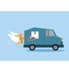 Truck package and delivery design vector