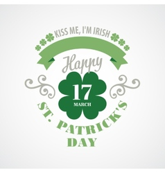 Typography St Patrick Day vector image