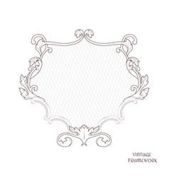 victorian openwork frame of calligraphic design vector image