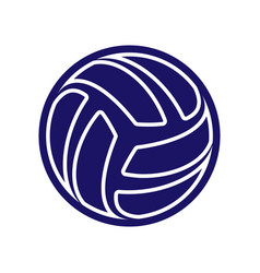 Volleyball abstract logo vector