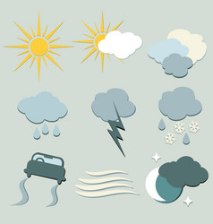 Weather forecast icons set for designers vector