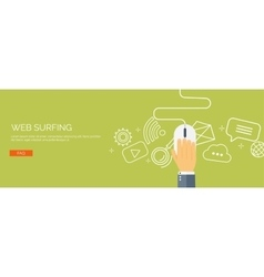 Web surfing Internet Mouse vector image