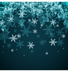 Abstract Winter Background from Snowflakes vector image vector image