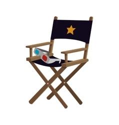 director chair cinema movie design vector image vector image