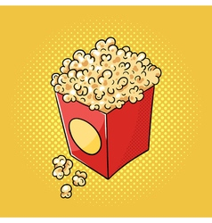 hand drawn pop art of popcorn vector image
