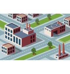 industrial district vector image