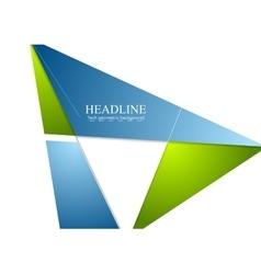 Minimal tech corporate brochure design vector image vector image