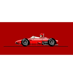old racing car vector image