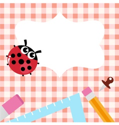 School design with Ladybug vector image