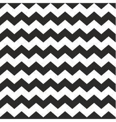 Zig zag chevron black and white tile pattern vector image