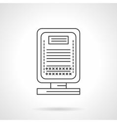 City lightbox flat line icon vector image vector image