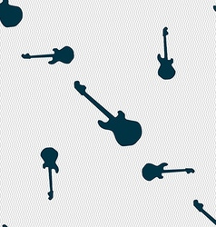 Guitar icon sign Seamless pattern with geometric vector image vector image