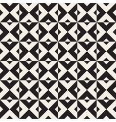 Seamless Black And White Square Triangle vector image vector image
