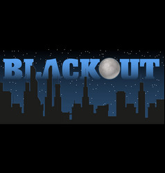 silhouette of the city and night with stars fool vector image
