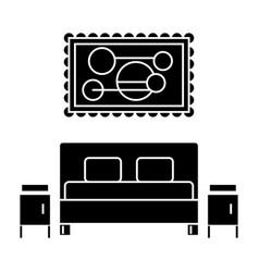 bedroom icon sign o vector image